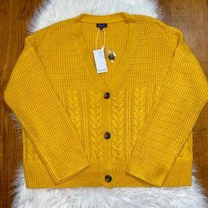 SPLENDID Button Front Oversized Cardigan
